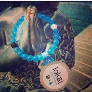 blue water lokai bracelet size M -New